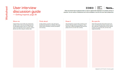 Designing For Public Services Guide 3