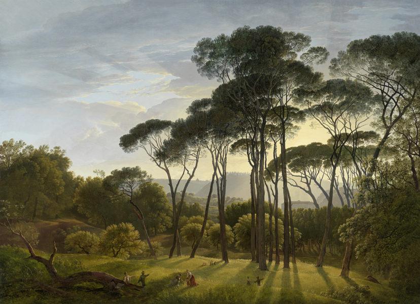 Italian Landscape With Umbrella Pines Hendrik Voogd 1807